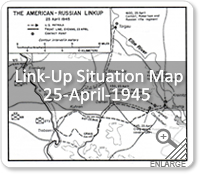 Link-Up Situation Map - 25-Apr-1945